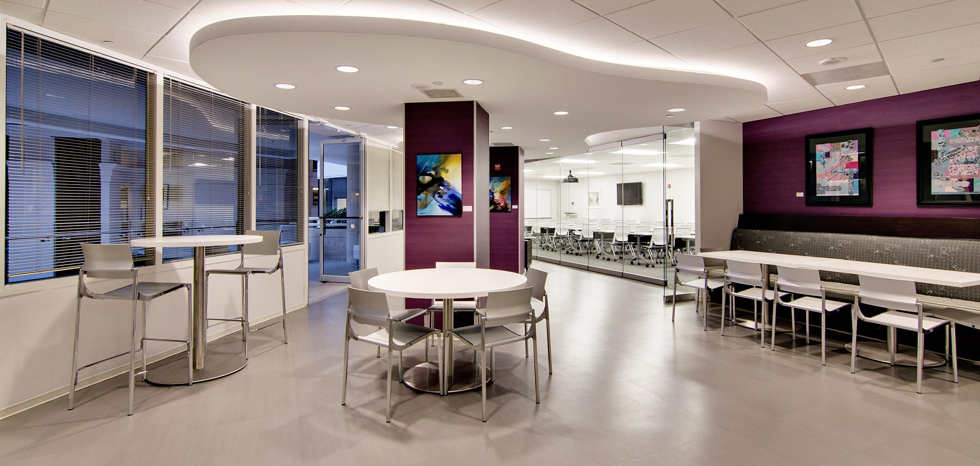 coworking lounge in chevy chase pavilion office space